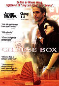 Chinese Box 1997 Movie poster Jeremy Irons Wayne Wang
