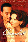 Chocolat 2001 Movie poster Juliette Binoche Lasse Hallström