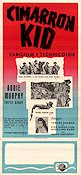 The Cimarron Kid 1952 Movie poster Audie Murphy