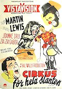 3 Ring Circus 1954 Movie poster Dean Martin