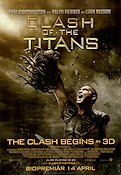 Clash of the Titans 2009 Movie poster Sam Worthington