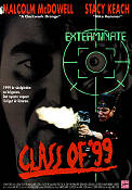 Class of 1999 1989 poster Malcolm McDowell Bradley Gregg