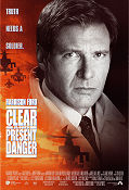 Clear and Present Danger 1994 poster Harrison Ford Phillip Noyce