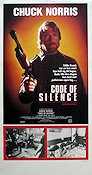 Code of Silence 1985 Movie poster Chuck Norris
