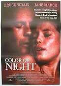 Color of Night 1993 Movie poster Bruce Willis