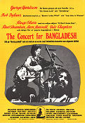 The Concert for Bangladesh 1972 poster George Harrison Saul Swimmer