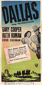 Dallas 1950 movie poster Gary Cooper