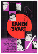 Damen i svart 1958 Movie poster Anita Bj�rk Arne Mattsson