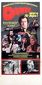 Dante akta're f�r Hajen 1978 Movie poster Jan Ohlsson