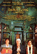 The Darjeeling Limited 2007 movie poster Owen Wilson Wes Anderson
