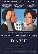 Dave 1993 Movie poster Kevin Kline