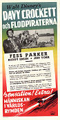 Davy Crockett and the River Pirates 1958 poster Fess Parker