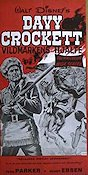 Davy Crockett vildmarkens hj�lte 1956 Movie poster Fess Parker