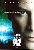 The Day the Earth Stood Still 2008 Movie poster Keanu Reeves