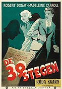 The 39 Steps 1935 Movie poster Robert Donat Alfred Hitchcock