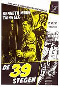 The 39 Steps 1959 poster Kenneth More Ralph Thomas