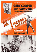 They Came to Cordua 1959 poster Gary Cooper Robert Rossen