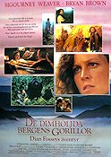 Gorillas in the Mist 1988 Movie poster Sigourney Weaver