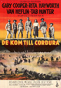 They Came to Cordura 1959 poster Gary Cooper Robert Rossen