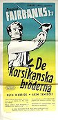 The Corsican Brothers 1942 Movie poster Douglas Fairbanks Jr