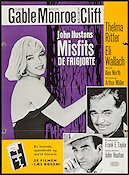 The Misfits 1961 poster Marilyn Monroe John Huston