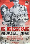 The Unconquered 1948 poster Gary Cooper Cecil B DeMille