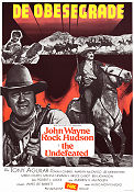 The Undefeated 1969 Movie poster John Wayne