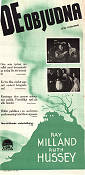 The Uninvited 1944 poster Ray Milland Lewis Allen