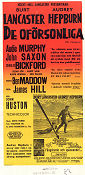 The Unforgiven 1960 poster Burt Lancaster John Huston