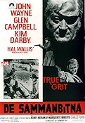 True Grit 1969 Movie poster John Wayne