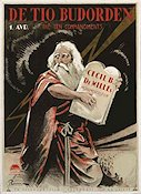 The Ten Commandments 1923 poster Theodore Roberts Cecil B DeMille