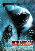 Deep Blue Sea 1999 Movie poster Saffron Burrows Renny Harlin