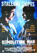 Demolition Man 1993 Movie poster Sylvester Stallone