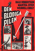 Blood on the Arrow 1964 poster Dale Robertson Sidney Salkow