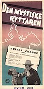 The Mysterious Rider 1942 poster Buster Crabbe