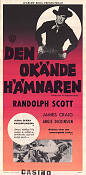 Shoot-Out at Medicine Bend 1957 poster Randolph Scott Richard L Bare