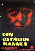 The Invisible Man 1933 Movie poster Claude Rains