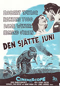 Den sjätte juni 1956 Movie poster Robert Taylor