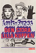 Den stora lilla kuppen 1968 Movie poster Louis de Funes