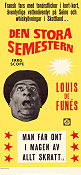 Den stora semestern 1968 Movie poster Louis de Funes