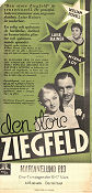 The Great Ziegfeld 1936 poster William Powell Robert Z Leonard