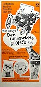 Den tankspridde professorn 1961 Movie poster Fred MacMurray