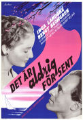 Det �r aldrig f�r sent 1956 Movie poster Inga Landgr�