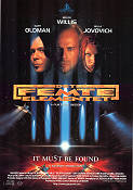 The Fifth Element 1997 Movie poster Bruce Willis Luc Besson