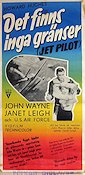 Jet Pilot 1958 Movie poster John Wayne Howard Hughes