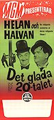 Det glada 20-talet 1965 Movie poster Laurel and Hardy