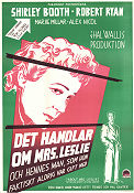 About Mrs Leslie 1955 Movie poster Shirley Booth