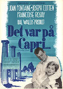 September Affair 1950 Movie poster Joan Fontaine William Dieterle