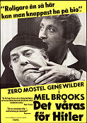 The Producers 1970 Movie poster Zero Mostel Mel Brooks
