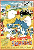 The Smurfs 1983 poster Smurferna